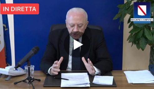 """Coronavirus Campania, De Luca: """"Situazione contagi, vaccinazione e demagogia"""""""