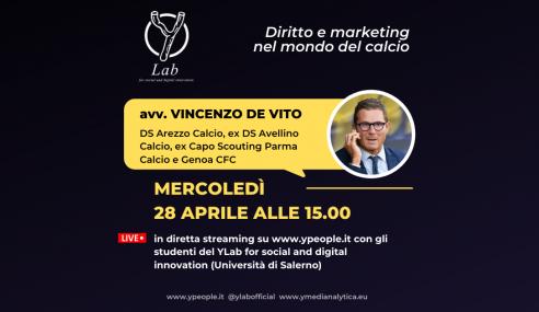 Enzo De Vito al YLab: diritto e marketing nel mondo del calcio