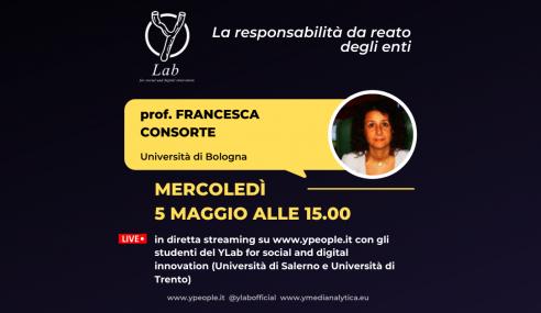 Francesca Consorte al YLab: la responsabilità da reato degli enti